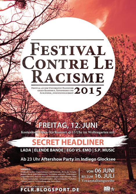 festival contre le racisme 2015 Festivalplakat