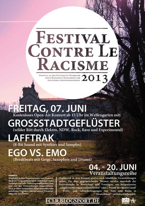 festival contre le racisme 2013 Festivalplakat