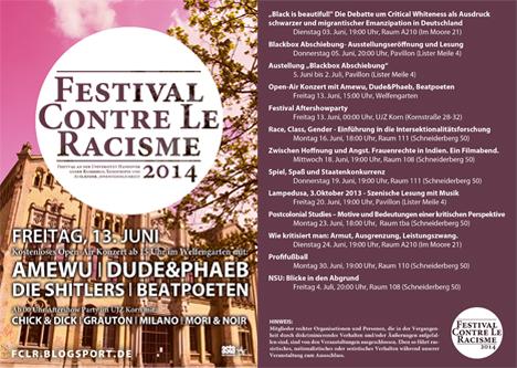 festival contre le racisme 2014 Festivalflyer