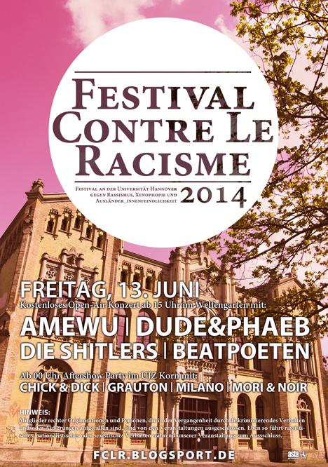 festival contre le racisme 2014 Festivalplakat