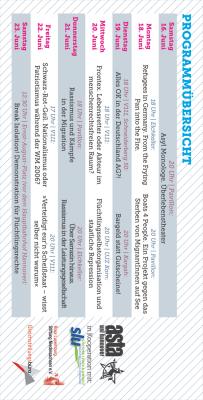 festival contre le racisme 2012 Flyer - Rückseite