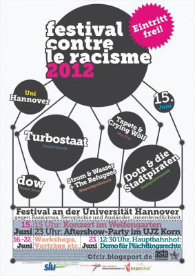 festival contre le racisme 2012 Plakat Konzert